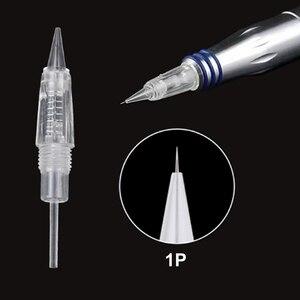 Image 2 - 100 шт./лот одноразовые 8 мм Винтовые тату иглы картриджи для Charmant Liberty Перманентный микроблейдинг микроиглы макияж