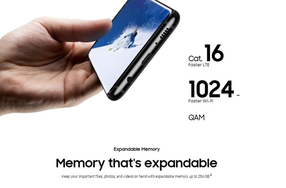 Original Samsung Galaxy S8+ S8 plus  6.2'' 12.0MP 4G RAM 64G ROM 4G LTE Octa c 4g+64g(single sim) 13
