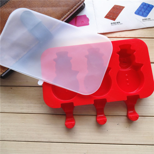 Details about  /GerlWorld Homemade Popsicle Molds Silicone Cartoon Ice Pop Maker,Rabbit+Snowman