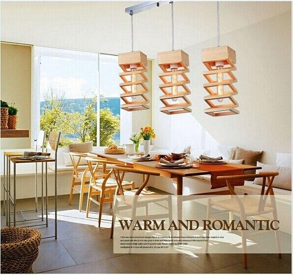 Nordic Rattan Wohnzimmer Led Glanz Holz Pendelleuchten Dining LED Lampen Manuelle Fr Spannung 90