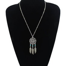 Fashion Jewelry Hollow Pendant Necklace Female Personality Beads Feather Clavicle Chain Necklace cute beads feather pendant design necklace for women