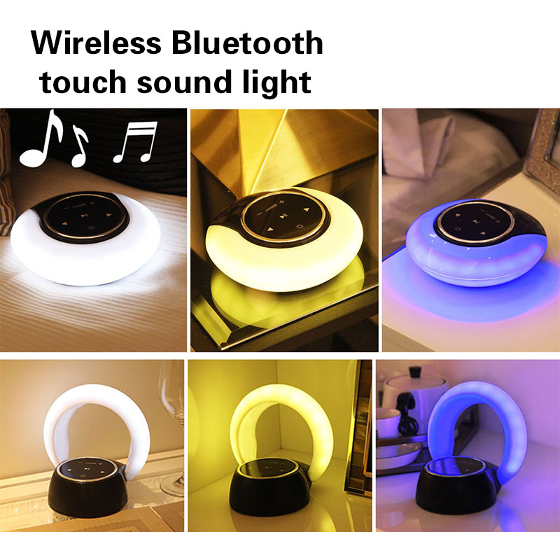 Wireless Bluetooth Speaker Touching Colorful Lighting Portable Speaker Ultra Portable Pocket 3D Stereo Sound Music Night Lights
