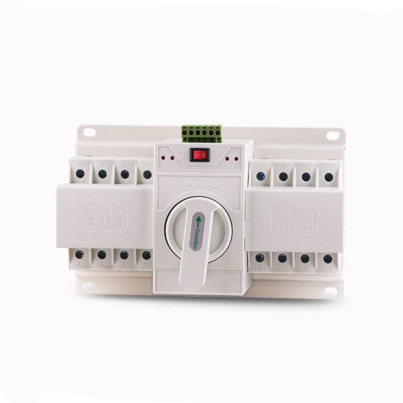 4 P 63A économie Double alimentation transfert automatique changement-over Intelligence commutateur dispositif disjoncteur dc 380 660 V Mini