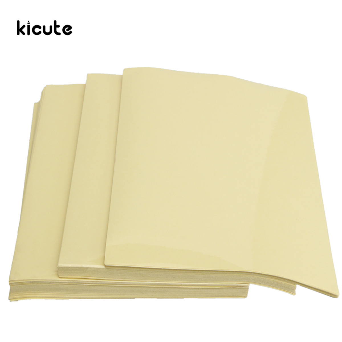 KICUTE 30/50/100Pcs A4 Clear Transparent Self Adhesive Printing Sticker Paper Sheet For Laser Printing Paper Print sticker kicute 70sheets pack self adhesive blank label paper price sticker stationery mark sticker for office stores libraries supplies