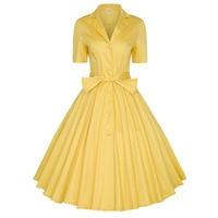Fairy Dreams 50s 60s Vintage Elegant Party Dress Audrey Hepburn Retro Women Summer Bandage Shirt Dresses