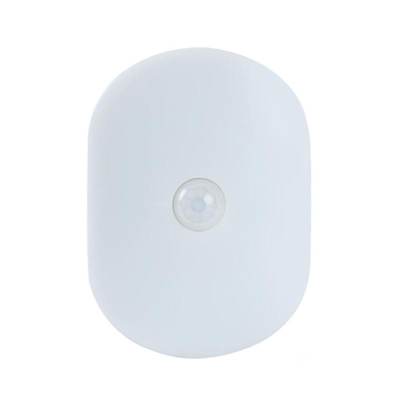 6 LED Mini Oval Small Motion Sensor Night Light Magnetic Wall Emergency Wardrobe Cabinet Indoor Lamp Night Atmosphere Light