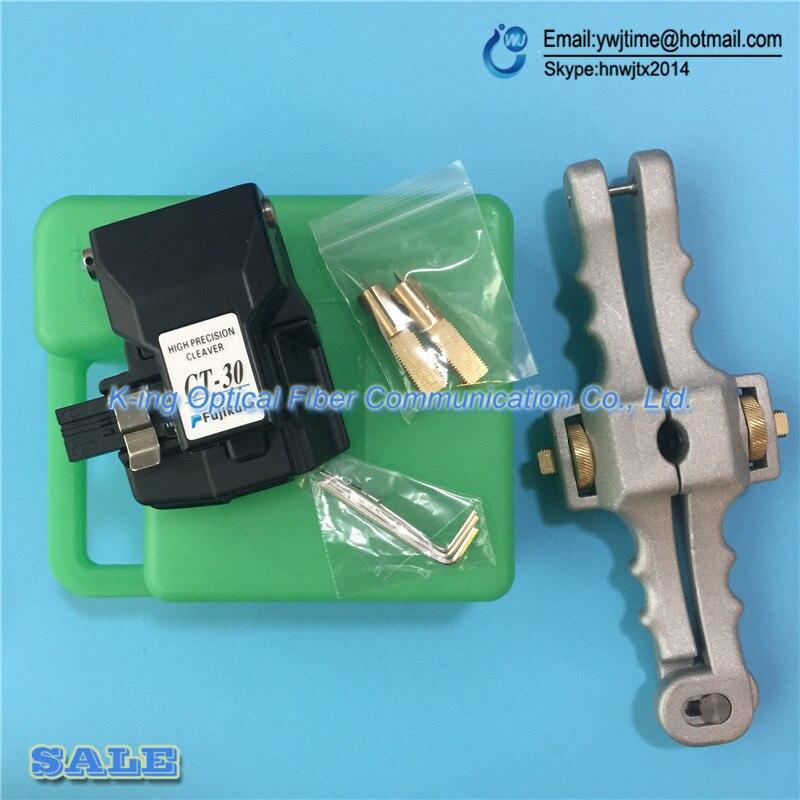 bilder für 2 Teile/los Fujikura faser-spalter CT-30 CT-30A Optical fiber schneiden messer + SI-01 Längs Öffnung Messer Mantel Kabel Rollenschneider