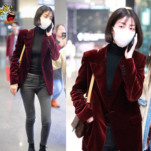 women Velvet blazers and jackets womens blazers female new b