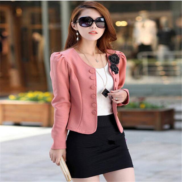 Preço de fábrica 2017 Marca de Moda Jaqueta Casaco Mulheres Blazer Terno Plus Size Jaquetas Casacos Blazers Completo Manga Casacos Outerwear Básico