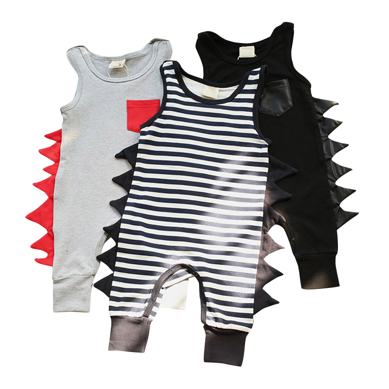 Infant Baby Clothes Kleding Dinosaur Decorate Jumpsuit 3 Color Cool Rompers Bebe Kids Cl ...