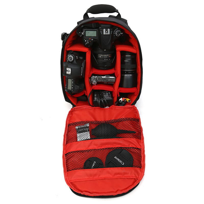 Coloful Waterproof Multi-functional Digital DSLR Camera Video Bag Small DSLR Nikon Canon Camera Backpack for Photographer jkbw new arrival 44 x 30 x 19cm camare bags waterproof multi functional backpack soft video camera bag for photographer