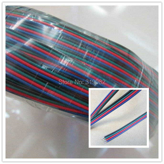 100m 4pin AWG22 Cable for RGB led Strip LED RGB Cable Wire Extension Cord for LED