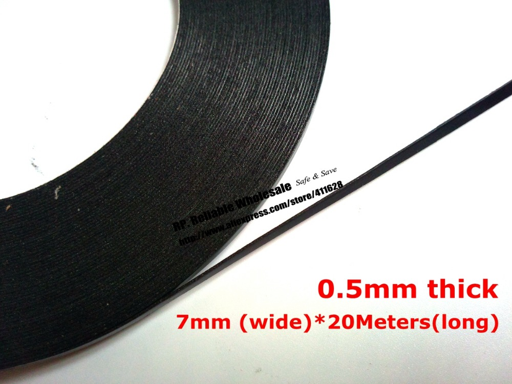 7mm Wide, (0.5mm Thick), 20M/Roll, Double Sided Adhesive Black Foam Sponge Tape for Cellphone Tablet PC Dustproof 50 meters roll 0 2mm thick 2mm 50mm choose super strong adhesive double sided sticky tape for cellphone tablet case screen