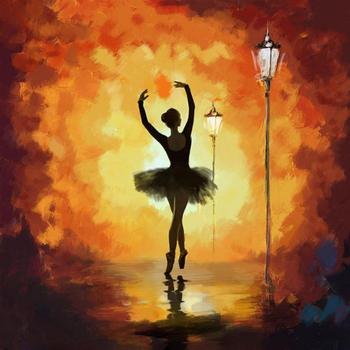 Hand painted colorful oil paintings canvas art Ballet Dancer figure artwork woman for home decoration