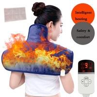 Electric Moxibustion Shawl Neck Cervical Shoulder Heating Pad Cervical Heating Blanket Multiple Protect for Shoulder neck pain