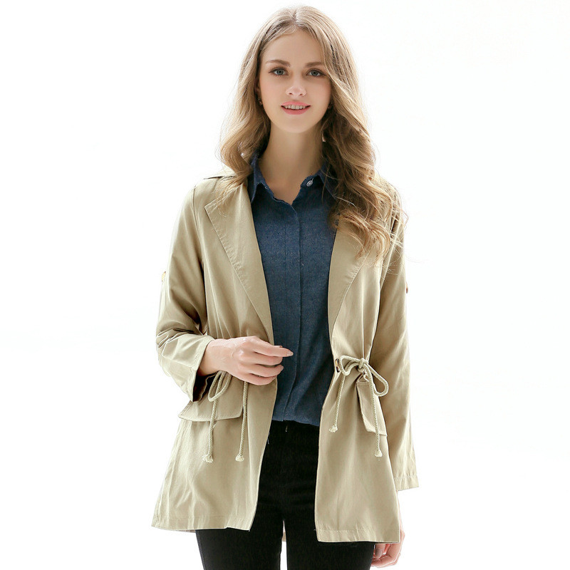 Six senses Womens Autumn Casual   Jackets   Ladies 2017 new fashion Pocket Long Sleeve   Basic     Jacket   Coat thin Outwear DL3744