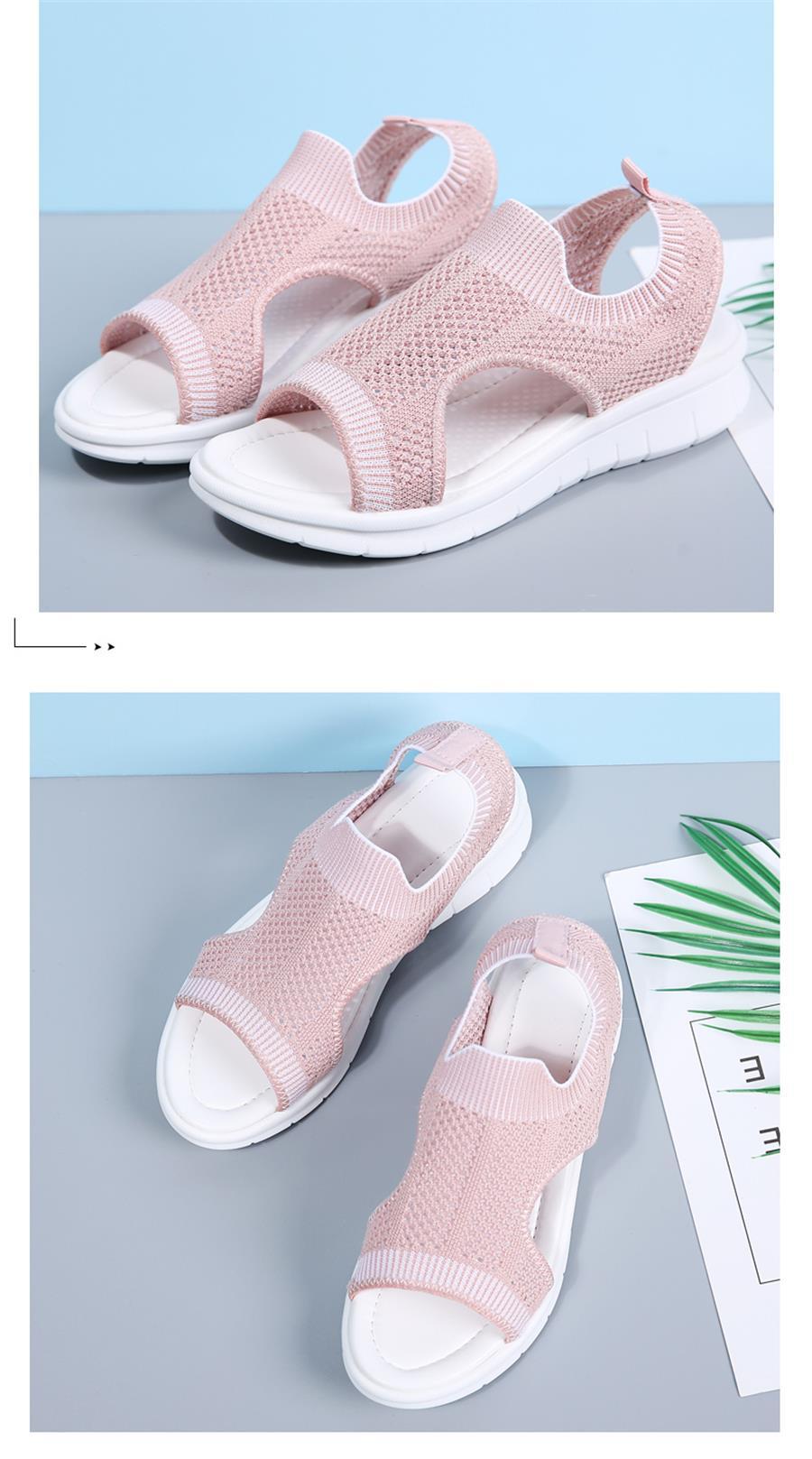 HTB11iVmRkvoK1RjSZFwq6AiCFXaF STQ Women sandals 2019 female shoes women summer wedge comfort sandals ladies flat slingback flat sandals women sandalias 7739