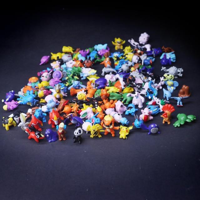 2.5 cm-3 cm גודל קטן 144 שונה סגנונות 24 יחידות\שקית חדש אוסף בובות פעולה צעצוע pks דמויות דגם