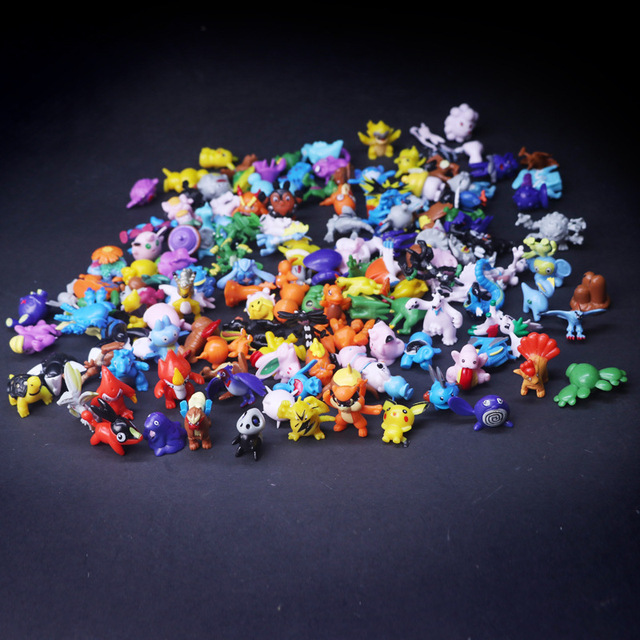 2.5cm-3cm small size 144 different styles 24 pieces /bag new collection dolls action toy pokemones figures model