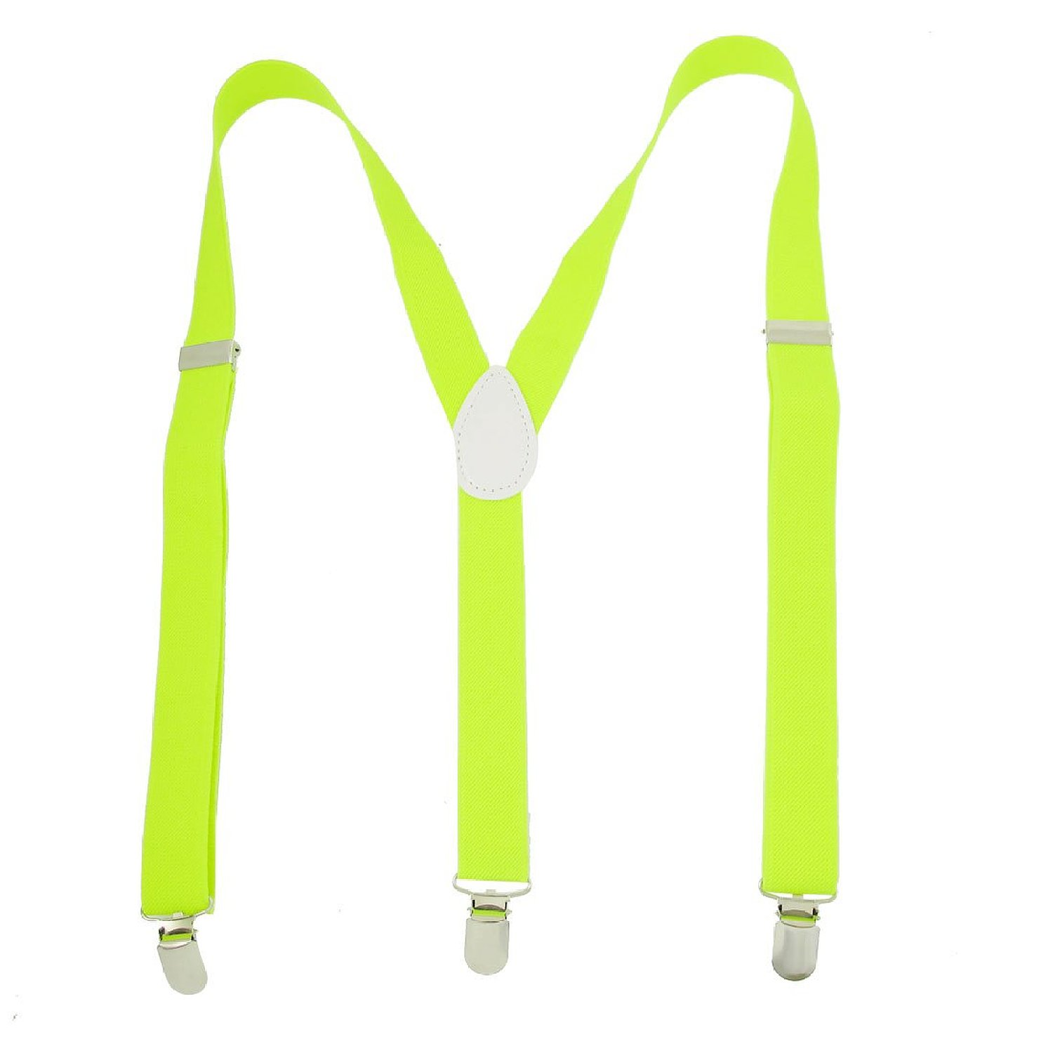 Adjustable Braces Elastic Y Back Suspender Yellow Green for Ladies