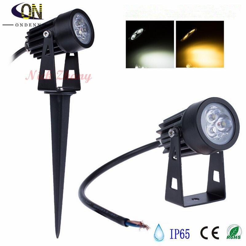 3W Waterproof Lights LED Lawn Lamp 110V 220V Landscape Spot Light IP65 110 V 220 V