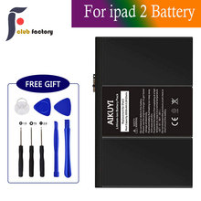club factory  Replacement Battery for iPad 2 with Repair Tools Kit, 0 Cycle - 6930mAh Li-ion