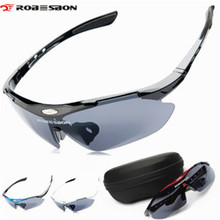ROBESBON Outdoor Sports Men Women Bicycle Glasses Goggle Sport Sunglas