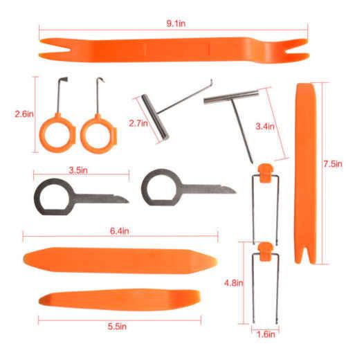DIY 12 pcs Bolsa Pry Removal Tool Set Kit Van Interior Moldagem Guarnição Do Painel Do Carro