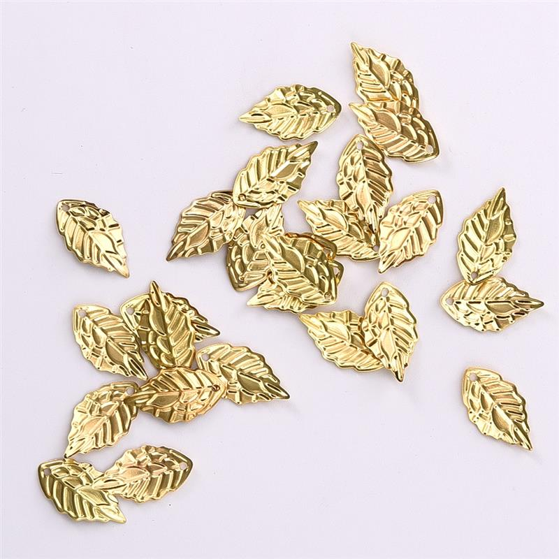 100pcs/bag 18*10mm Metal Leaves Silver/Gold/Bronze Color Metal Crafts Connector For Hairpin Jewelry Findings DIY Accessories 30pcs 4colors inside width 10mm diy handbag bag silver metal accessories bridge connector hanger