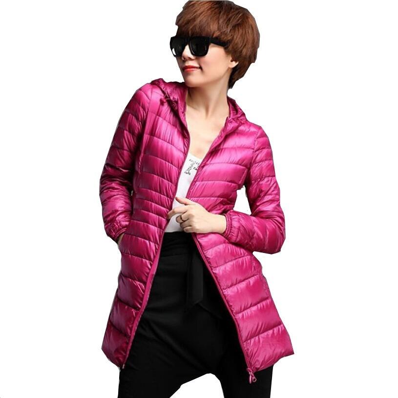 XMY3DWX 2018 femmes chaud en hiver Super léger mince 90% duvet Blanc vestes/femmes slim Fit Double face À Capuchon vers le bas manteau 3XL