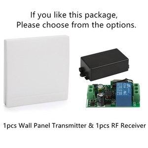 Image 5 - QIACHIP 433 Mhz evrensel kablosuz uzaktan kumanda anahtarı AC 85V 110V 220V 1CH röle alıcı modülü ve RF 433 Mhz uzaktan kumanda