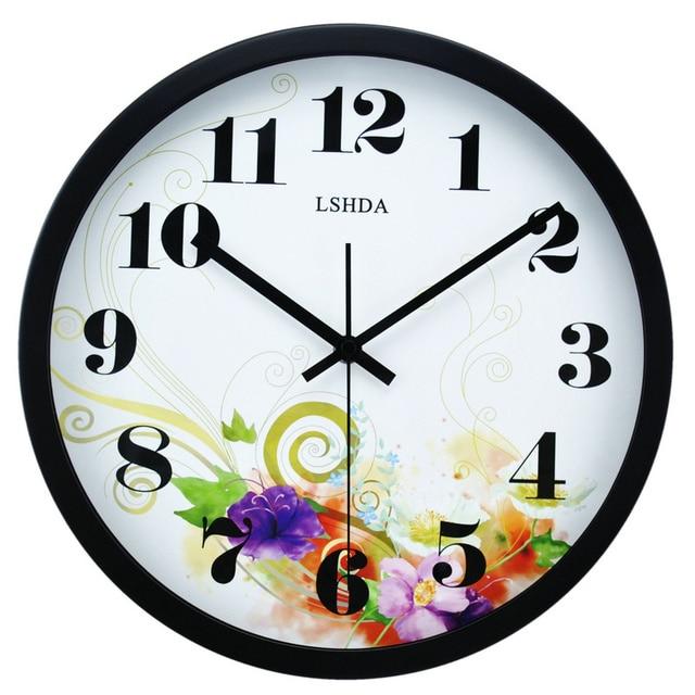 star fashion mute wall clock quartz clock pocket watch 12 bedroom wall clock circle bedroom wall