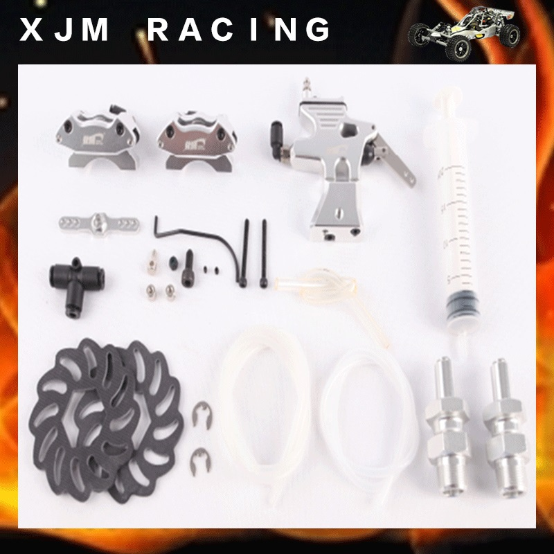 1/5 rc car second performance Hydraulic Brake system kits fit hpi km baja 5b toy parts main pump combination for gtb 4 wheel hydraulic brake set fit for 1 5 rc car hpi baja 5b ss