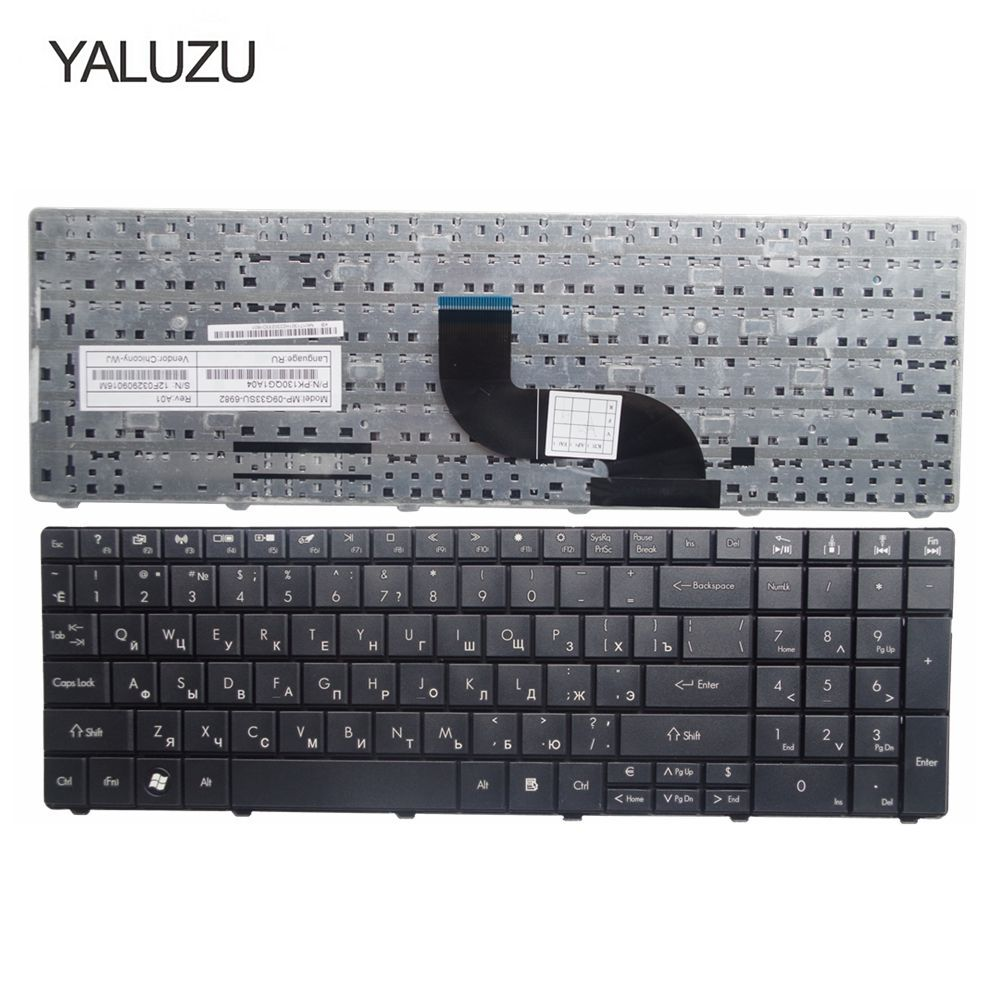 YALUZU New Russian Laptop Keyboard FOR Acer For Aspire E1-571G E1-531G E1 521 531 571 E1-521 E1-571 E1-521G Black RU Keyboard