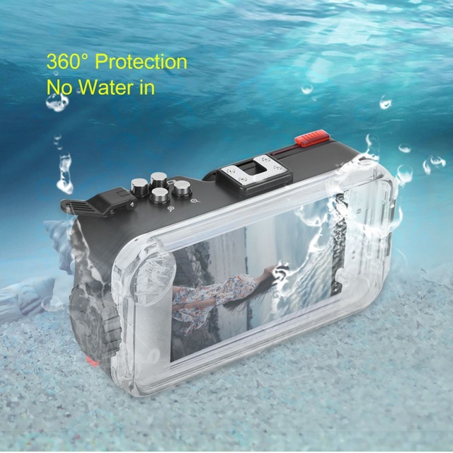 finest selection da6e1 721e4 US $121.22 29% OFF|Underwater Waterproof Phone Case Diving Phone Housing  with Fisheye Lens for iPhone Android Phones Support Photo Record Videos-in  ...