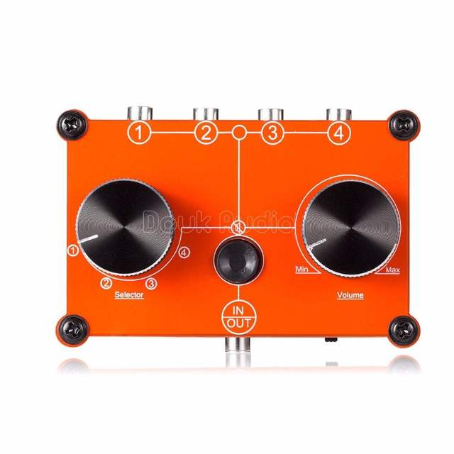 Online Shop MC104-Red Mini 4 ports Stereo 35mm 4-IN-1-OUT Audio