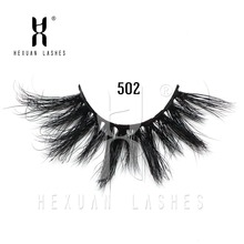 Length 25mm mink lashes extra Long 3Dmink eyelashes Big dramatic Criss-cross Strands Lashes Natural Fake Extension Beauty