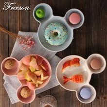 Mickey Maus Snack Schüssel Und Platte Kuchen Gebäck Porzellan Fach Frühstück Abendessen Lebensmittel Keramik Geschirr Für Kinder Dekoration