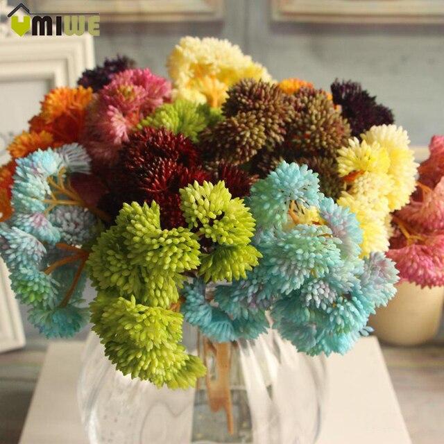 2017 Artificial Flowers Arrangement Home Wedding Decoration Handmade Diy Fake Small Succulent Plants