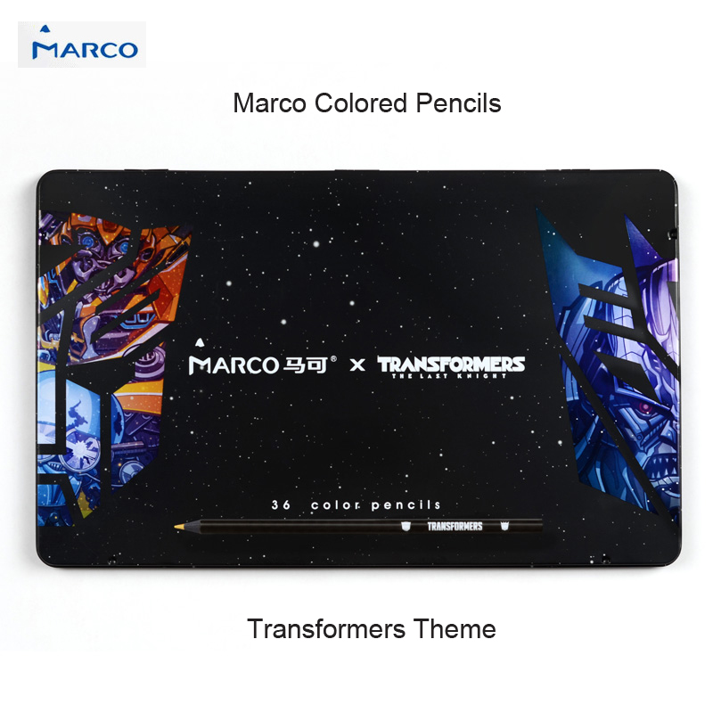 Marco Renr Oil Based Colored Pencil Drawing Professional Pencils 24/36/48 Limited Edition Collection Gift Box 3200-48CB-TF цена