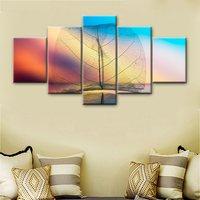 투명 화이트 잎 큰 그림 HD 인쇄 잎 질감 예술 벽 거실 장식 그림 캔버스 작품 장식
