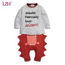 LZH Nouveau-Né Vêtements Set 2017 Nouveau Bébé Garçons Vêtements Ensembles Bébé Coton T-shirt + Pantalon 2 pcs Enfants vêtements Outfit Costume Infantile Vêtements