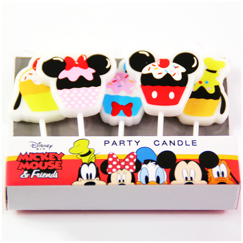 5pcs/lot Disney Minnie Mickey Mouse candle Donald Duck ...