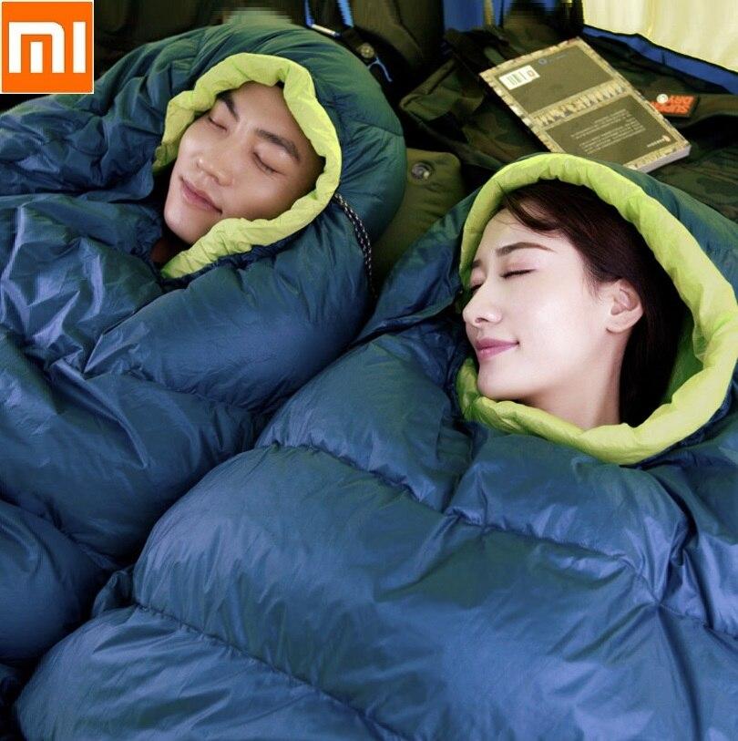 Xiaomi youpin Outdoor adult Sleeping bag Lunch break cotton sleeping bag Ultralight down Pure white duck