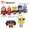Batman Minion USB Flash Drive minions pendirve 4GB/8GB/16GB/32GB usb2.0 usb stick spiderman pen drive flash disk 64GB chips