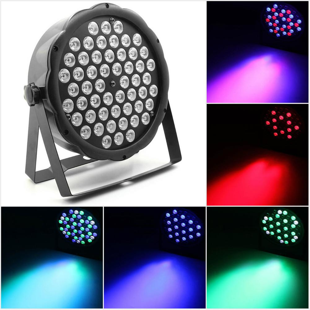 54W RGBW 54 LED Par Light RGBW DMX512 Stage Lighting Effect Light for Christmas Home KTV Xmas Wedding Show Pub diameter 60cm led rgbw wedding ball light