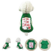 Dog Clothes Christmas Dog Clothing Polyester T shirt Puppy Costume Ropa Para Perro Ropa Perro Pet Clothes Dogs Clothing Bulldog(China)