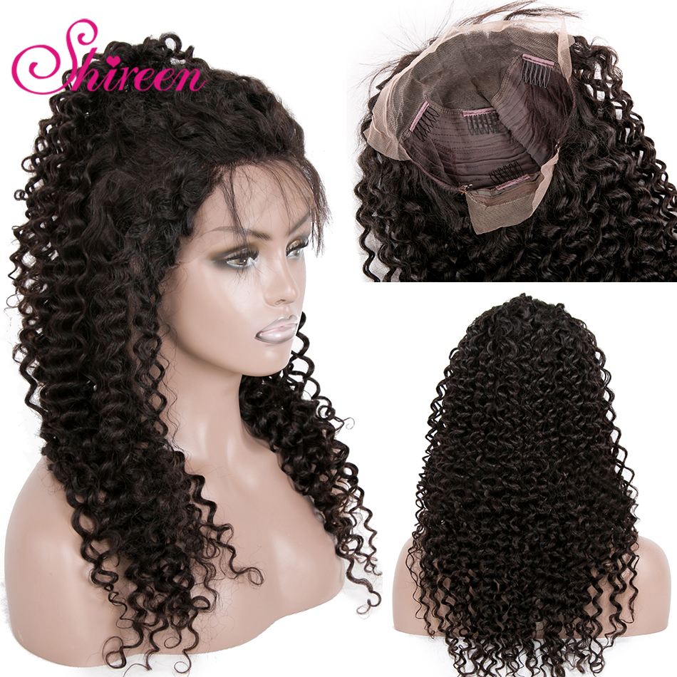 Kinky Curly Human Hair Wigs Malaysian Remy Hair 13*4 Lace Front Human Hair Wigs Thick Ends With Baby Hair Bleached Knots Shireen