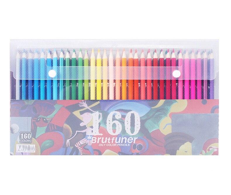 160 цвета дерево цветные карандаши набор Ляпис де кор художника живопись масляный цветной карандаш для школы рисунок карандаши принадлежнос...