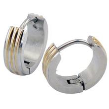 Satainless стали 6 пар/лот мужские серьги серебро клип на ухо хряща пирсинг верхней лепестков серьги